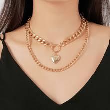 Геометрическое ожерелье, ожерелья в форме сердца, Женская ...