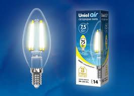 Светодиодная <b>лампа LED</b>-<b>C35</b>-<b>7</b>,<b>5W</b>/<b>WW</b>/<b>E14</b>/<b>CL</b> GLA01TR ...