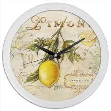 Часы круглые из пластика Лемон #335270 от 100pari