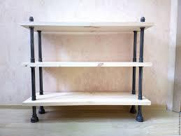 Стеллаж / <b>этажерка</b> / <b>тумба под ТВ</b> в стиле Лофт (Loft), Индастриал