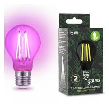 Светодиодная <b>лампа для растений Gauss</b> LED Fito Filament A60 ...