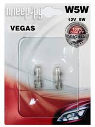 <b>Лампа AVS Vegas W5W</b> W2.1x9.5d 12V (2 штуки) A78478S
