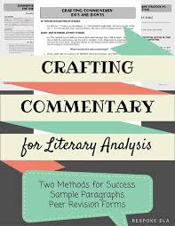 summary crafting and writers on pinterest writing commentary is without a doubt the most difficult aspect of the literary analysis essay