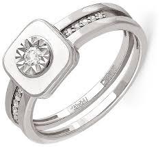 Купить KABAROVSKY <b>Кольцо с 11 бриллиантами</b> из белого ...