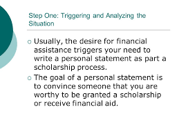 the scholarship essay and the writing process jennifer mcbride  usually the desire for financial assistance triggers your need to write a personal statement