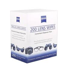 <b>Zeiss</b> original <b>pre</b>-<b>moistened</b> disposable <b>lens</b> cleaning wipes (<b>200pcs</b>)