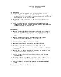 nurse assistant resume  resume sample format