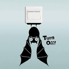 Bat Switch Sticker <b>Cartoon</b> Animals <b>Halloween Decoration</b> Vinyl ...