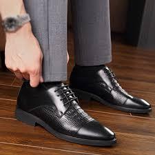 2019 <b>Men's men shoes leather Shoes</b> Business Pointed Paint ...