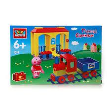 <b>Конструктор</b> AA-1514-R <b>поезд</b> свинки с фигуркой <b>Город</b> ...