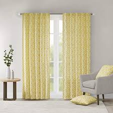 Yellow Curtains for <b>Living</b> Room, Modern Contemporary Fabric ...