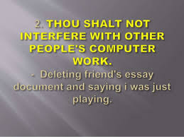 commandments of computer ethics with example