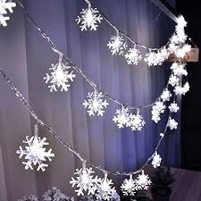 xmas lights led snowflake for holiday wedding 5m 10m battery plug lights string garland garden party decoration