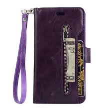 Zipper Bag Wallet Mobile Phone Leather Cover Flip Card Hang ...
