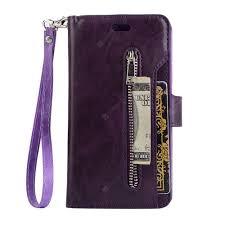 Zipper Bag Wallet Mobile Phone Leather Cover Flip Card Hang ...