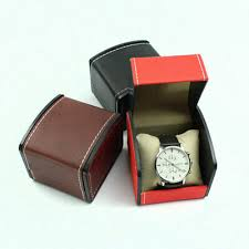 UK PU LEATHER <b>watch</b> display cabinet box <b>single Grid</b> slot box ...