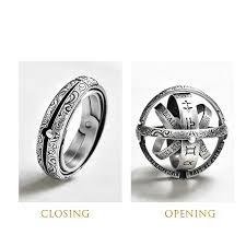 <b>Astronomical ball</b> ring German retro-<b>ball creative</b> ring flip transform ...