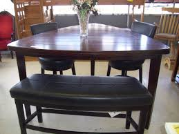 dining room pub style sets: dining table with bench dining room pub style dining room sets