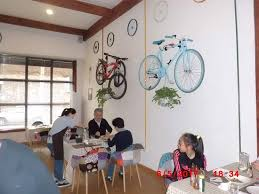 <b>Yes</b>, <b>they are real</b> bikes on the wall - Picture of Cyclist Restaurant, Xi ...