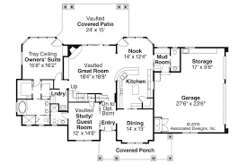 Craftsman House Plans   Tillamook     Associated DesignsCraftsman House Plan   Tillamook     st Floor Plan