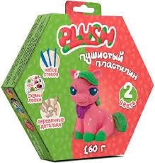 <b>Набор для лепки</b> - Пушистый пластилин <b>Plush</b>, розовый/зеленый ...