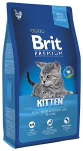 <b>Корм</b> для котят <b>Brit Premium</b> с курицей, с лососем 8 кг — купить по ...