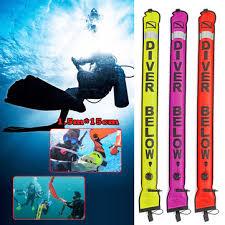1.5m high visibility <b>scuba diving</b> reel <b>smb</b> surface marker buoy and ...