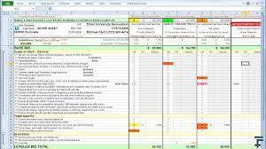scope sheet llc level subcontractors