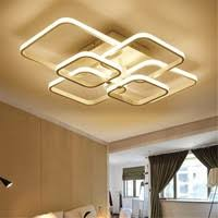 6 Heads <b>Rectangle</b> Acrylic Aluminum <b>Modern Led Ceiling</b> Lights ...