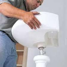stately ceramic pedestal bathroom