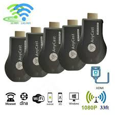 <b>5PCS</b> HDMI Anycast M9Plus Dual WiFi Display <b>TV</b> Dongle Receiver ...