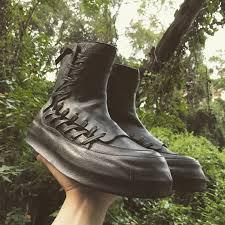 Harajuku <b>Black</b> High <b>Top</b> Shoes <b>Men</b> Autumn <b>Personality</b> Genuine ...