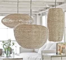 baskets upcycled beachy pendant lights items bamboo indoor decorated fancy cool new innovation functional beach theme lighting