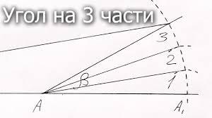 Деление <b>угла</b> на три части, трисекция линейкой невсисом ...
