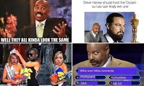 Steve Harvey's colossal Miss Universe gaffe sets off meme ... via Relatably.com