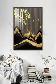 New <b>Chinese abstract</b> golden landscape <b>modern minimalist</b> light ...