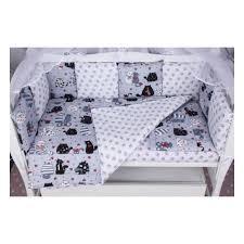 <b>Комплект в кроватку AmaroBaby</b> 15 предметов КОТИКИ бязь, серый