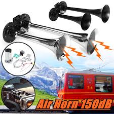 Super Loud 12V 150dB <b>Air</b> Horn Compressor 2 / <b>3 Trumpet</b> For <b>Car</b> ...