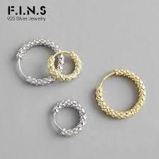 <b>F.I.N.S</b> Minimalism Round Circle Hoop Earrings For Women Classic ...