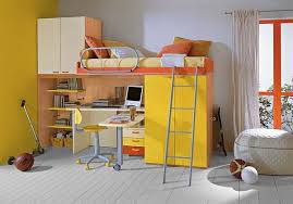 view in gallery yellow loft bed and desk combo enlivens the room bedroom loft bed desk combo