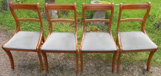 Yew Dining Room Furniture Sold Set Of Four Regency Style Yew Dining Chairs 2 4760 Pjpg