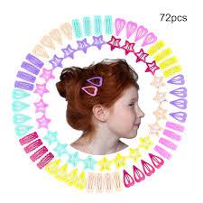 <b>72pcs</b> Metal Snap <b>Hair Clips</b> For Girls Teens Toddlers Babies ...