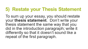paragraph essay structure brought to you by powerpointpros com 5 restate your thesis statement to sum up your essay you should restate your
