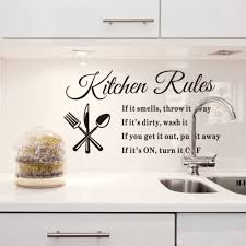 kitchen wall decor art black kitchen wall decor diy removable wall stickers kitchen rules dec