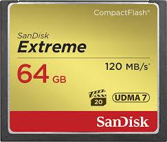 <b>SanDisk</b> Extreme 64GB <b>CompactFlash</b> (<b>CF</b>) Memory Card SDCFXS ...