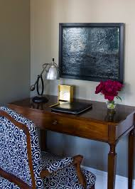 the passage beach style home office idea in other with gray walls and a freestanding desk black middot office