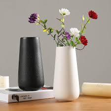 <b>Simple Modern</b> Ceramic <b>Vases</b> White <b>Black</b> L S Nordic Ceramics ...
