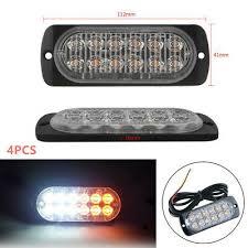 <b>4PCS</b> 12V-24V <b>12LED</b> Car Truck Stop Side Marker Lights Lamp ...