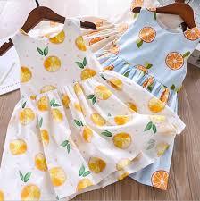 <b>2019 2019 Summer Kids</b> Lemon Dress Girls Lemon Polka Dots ...
