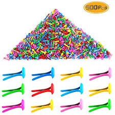 Yexpress 500 Pieces 6 x <b>13mm</b> Assorted Bright Color <b>Mini</b> Brads ...
